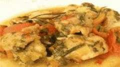 Тушкована риба з щавлем