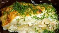 Запіканка з риби і картоплі